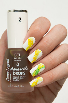 Aquarelle drops - №02 Yellow