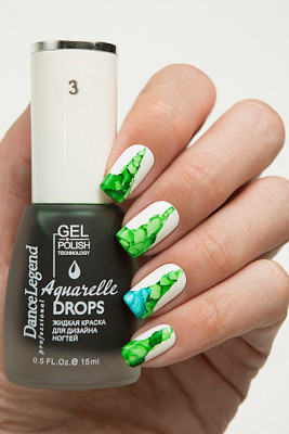 Aquarelle drops - №03 Green