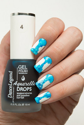 Aquarelle drops - №04 Sky Blue