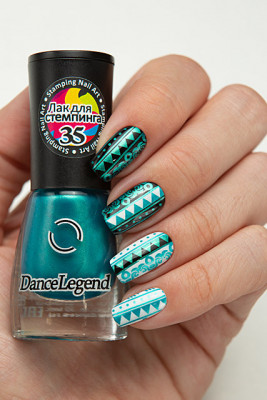 Stamping - №35 Metallic Teal