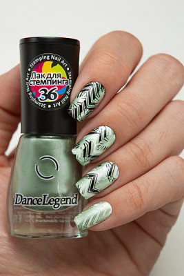 Stamping - №36 Metallic Sage Green
