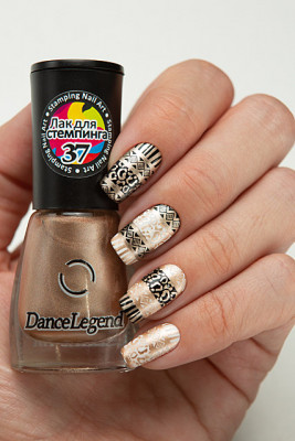 Stamping - №37 Metallic  Bronze