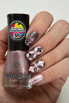Stamping - №38 Metallic Rose
