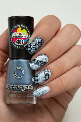 Stamping - №40 Metallic Cornflower Blue