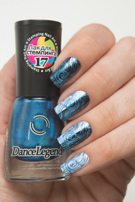 Stamping - №17 Metalic Blue
