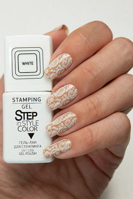 Step In Style Stamping Gel - White